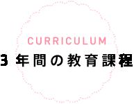 CURRICULUM 3年間の教育課程